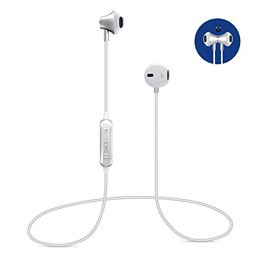 Bluetooth 4.1 Wireless Headphones Magnetic Bluetooth Headset, IPX4 Sweatproof Earphones for Sports, Relax, CVC6.0 Noise Cancellation Earbuds Wit Mic for LG Huawei Samsung Other Bluetooth Devices