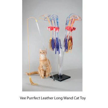 Vee Purrfect Leather Cat Toy, My Pet Supplies