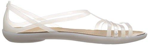 Krokodillen Damen Isabella W Sandalen Elfenbein - Blanc Cassé - Bianco (oys)