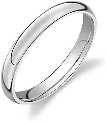 LINGVYTE 8mm Tungsten Carbide Wood Inlay High Polished Mens Women Rings For Enagement Band