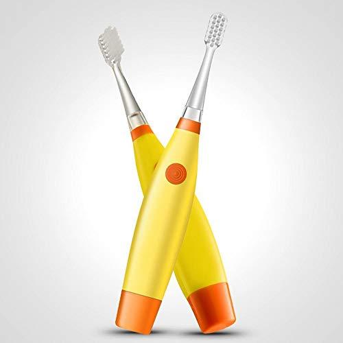 風変わりな家事行き当たりばったりLKJASDHL 乾電池式子供用電動歯ブラシQuip Toothbrush電動歯ブラシヘッド (色 : Yellow)