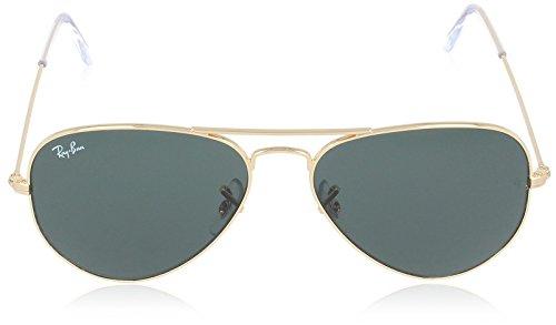 Ban Dorado de Metal Green Large Ray Hombre sol para Aviator Grey Gafas aHdqwxz6