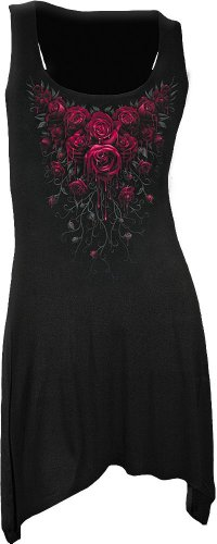 (Spiral - Womens - Blood Rose - Goth Bottom Camisole Dress Black - L)