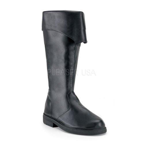 105 (M10-11, Black) Pirate Boots Tall