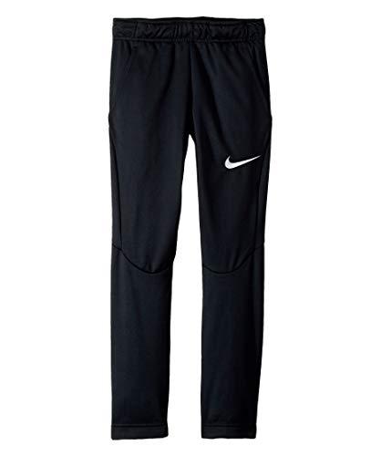 NIKE Boy's Open Hem Therma Pants (Black/White, Large) (Nike Golf Pants Slim Fit)
