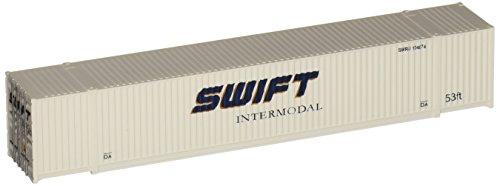 Walthers SceneMaster Singamas Swift corrugated-sideコンテナ、53`