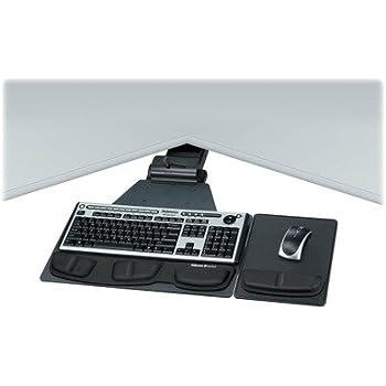 Amazon Com Fellowes Adjustable Corner Keyboard Tray