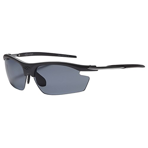 NAGA Sports Pioneer Model UV400 Sports Sunglasses - (NON Polarized Normal Grey Lens Black - Models With Male Sunglasses