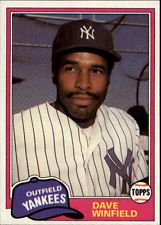 (2 Dave Winfield Cards 2001 Topps Traded Reprint 1981 Topps #T103 2002 Fleer Greats #10 New York Yankees Baseball Cards )