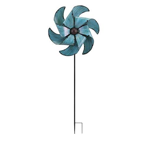 Imax Juni Whirly Gartenstecker, blau