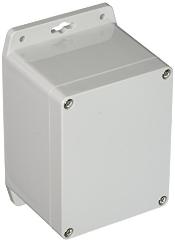 BUD Industries PN-1328-MB Polycarbonate NEMA 4X Box with Mounting Bracket, 4-33/64