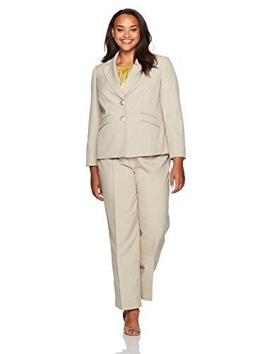 Le-Suit-Womens-Plus-Size-Glazed-Melange-2-Button-Notch-Lapel-Pant-With-Cami