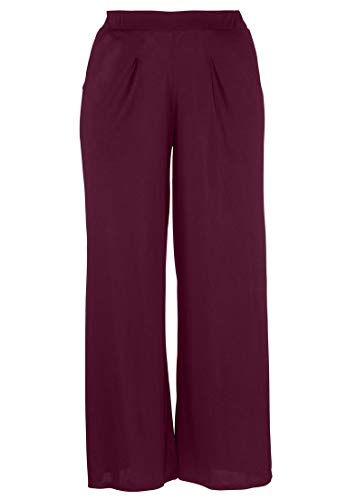 Ellos Women's Plus Size Pleated Wide Leg Knit Pants