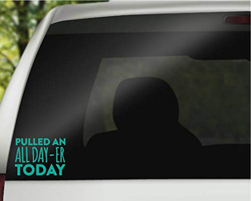 CELYCASY Funny Car Decals - Funny Adulting Decal - Adulting Decal - All Day-er Decal - Gag Gifts - Entrepreneur Decal - Laptop Decal - Car Decal (Best Laptop For Entrepreneurs)