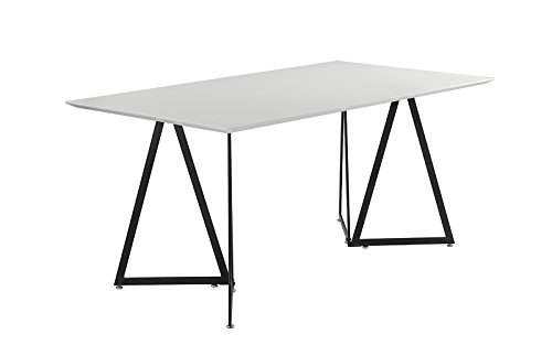 Modern Contemporary Kitchen Dining Room Table (White / Black) by Divano Roma Furniture