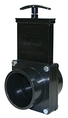 "Valterra 7303 ABS Gate Valve, Black, 3"" Spig from Valterra Products"
