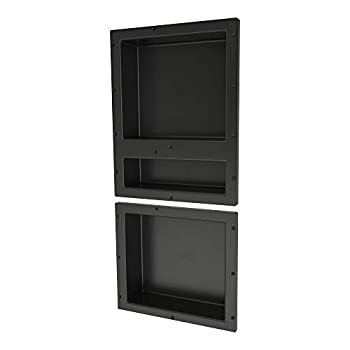 Image of Home and Kitchen Tile Redi USA RNT1620D-14 Shower Niche, 34' H X 16' W, Black