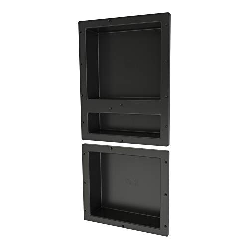 "Tile Redi USA RNT1620D-14 Shower Niche, 34"" H X 16"" W, Black"