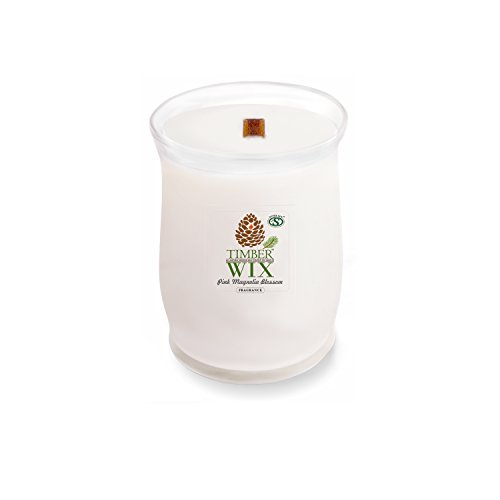 olia Blossom Wood Wick Soy Candle (14.5 oz. Jar) Made with Premium USA Grown Natural SuperSoy Wax ()