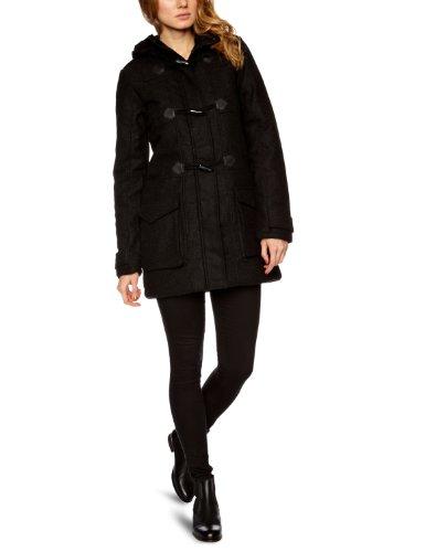 Bench Damen Jacke Dufflecoat Faroe Schwarz (black marl) Small