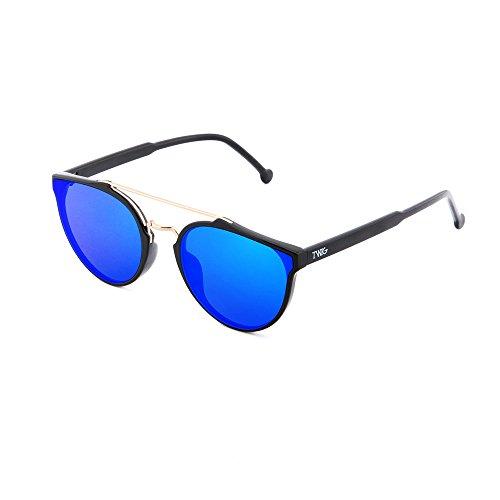 Negro Azul de mujer espejo CARTESIO degradadas TWIG sol Gafas hombre 8zRUSqx0