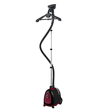 Steam and Go - SAG-12 - Professional Garment Steamer, 1500W - 1.5L Big Water Tank - Includes Pant Press, Fabric Brush and Holding Clips - Great for Delicate and Thick Garments