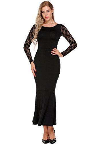 long black fishtail dress - 9