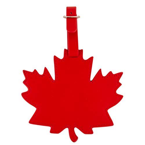 (Canada Faux Leather Maple Leaf Luggage Bag Tag)