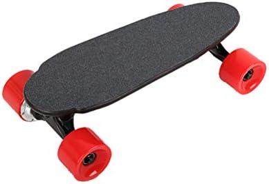 電動スクーター、4輪のミニサイズ150Wホイールモータメープルウッドボード、子供とE-スクーターティーンワイヤレスBluetoothリモートコントロール,4