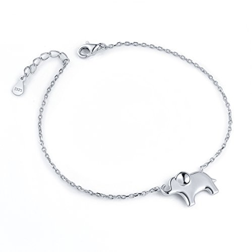 ATHENAA S925 Sterling Silver Lovely Elephant Bracelet for Women (Claddagh Silver Bracelets)