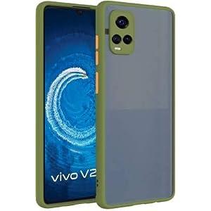 Lofad Case Hard Matte Finish Smoke Case with Soft Side Frame Fit Protective Back Case Cover for Vivo V21 [Translucent…