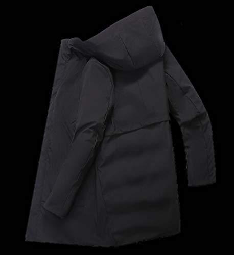 Casual Uomo Invernale colore Cappuccio Tratto Con Xxxl Lungo Dimensioni Da Grande Piumino E Green CEw5qq