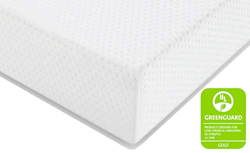 Graco Premium Foam Crib and Toddler Mattress (White) - Ships Compressed in Lightweight Box, Ideal Mattress Firmness, Featuring Soft, Water-Resistant, Removable, Hand-Washable Outer Cover (Best Firm Crib Mattress)