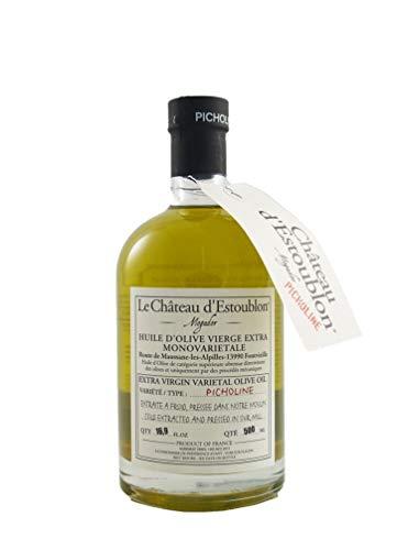 (Le Chateau d'Estoublon Picholine | Premium French Extra Virgin Olive Oil from Provence | 2018 Harvest | Monovarietal | 0.5 Liter (16.9 Ounce))