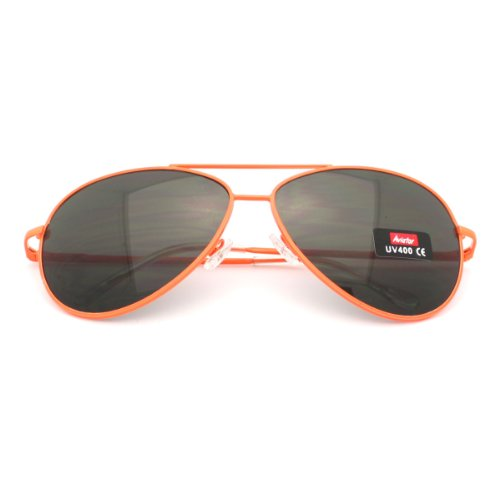 Bright Neon Colorful Aviator Sunglasses Summer Fashion Spring