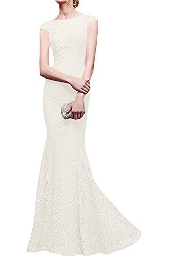 Blau Abendkleider Elfenbein Royal Braut Spitze Festlich Langes Damen Meerjungfrau La mia Etuikleider Brautmutterkleider qx10w77I
