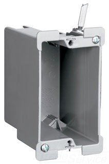 Pass & Seymour S1-18-W Plastic 1-Gang Old Work Switch Outlet Box 2-1/4 Inch x 3-3/4 Inch x 3-1/32 Inch 18 Cubic-Inch Slater