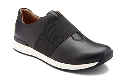 Vionic Women's Cosmic Codie Metallic Slip-On Casual Sneaker Black 8.5 W ()