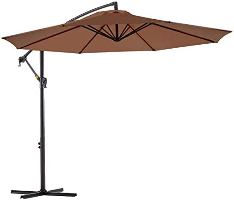 Le Conte Offset Umbrella 10ft Cantilever Patio Hanging Umbrella Outdoor Market Umbrella