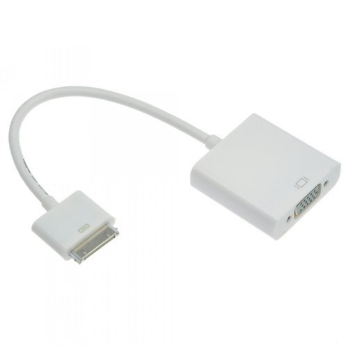 BenGoo 30pin Dock Connector to VGA Cable Adapter Video Converter for Apple iPad 2 3 iPhone 4S 4 iPod Touch (Only Compatible with above IOS 6.0 but below IOS 8.0)