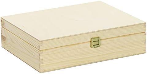 Grinscard Caja de Té con Tapa de Madera con 12 Compartimentos ...