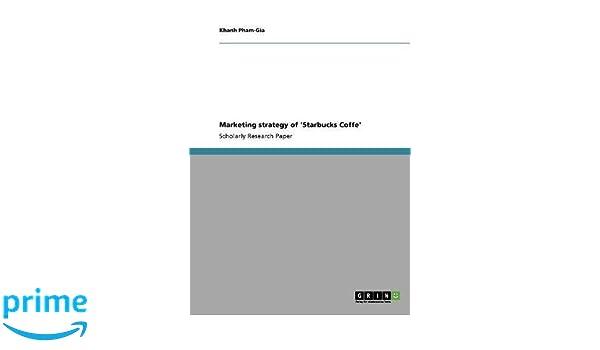 starbucks research paper