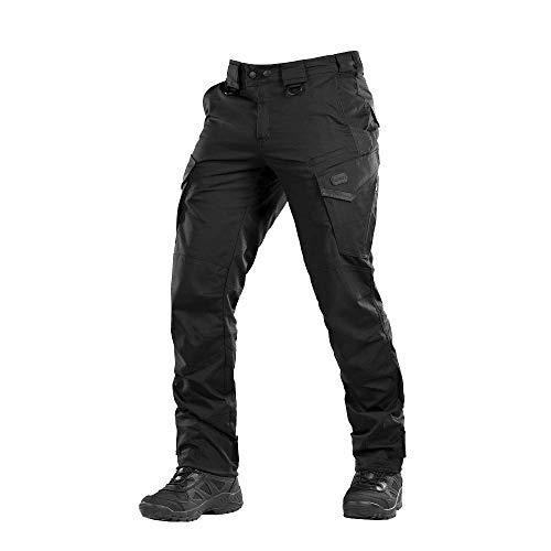 Aggressor Flex - Tactical Pants - Men Cotton with Cargo Pockets (Black, XL/L) 511 Mens Cotton Tactical Pants