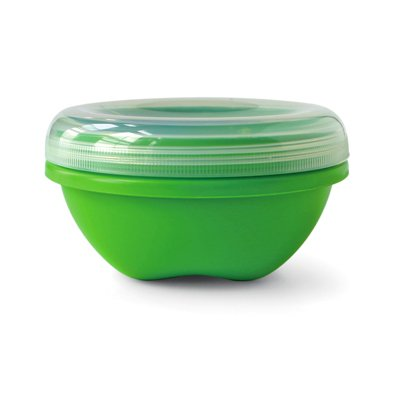 Food Storage, Small (19 oz), Apple Green. This multi-pack contains 3.