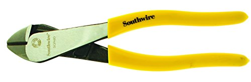 Southwire Tools & Equipment DCPA8D 8-Inch Angled Head High-Leverage Diagonal Cutting Pliers with Dipped ()