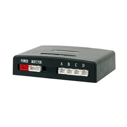 VSG /® VSG Einparkhilfe Kombi-Set f/ür vorne/&hinten mit Farb-Display und eingebauten Pieper in schwarz