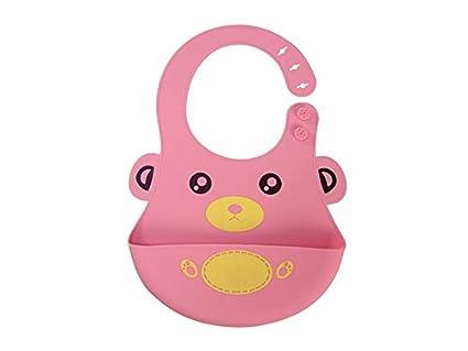 HNBGY Vistoso Babero de silicona para bebés Toddler Toalla de saliva para bebés Babero de Drool
