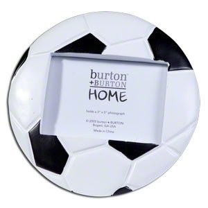 soccer ball football shaped picture frame perfect for sports team photo