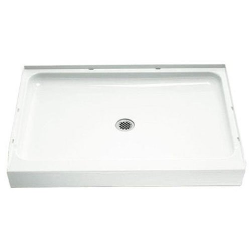 STERLING 72131100-0 60-Inch Shower Base Vikrell Center Drain, - Vikrell Material
