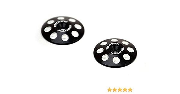 Exotek Racing 1//8 Buggy XL Wing Buttons 22mm 2 Black 1665BLK